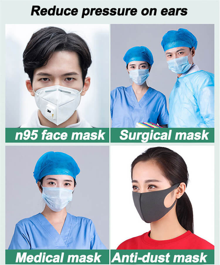 Wholesale Face Mask Ear Band Extension Hook 4-Gear Adjustable Face Cover Plastic Portable Ear Rope Accessory Anti-Slip Grip Buckle For Mouth Cover 05