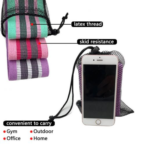 Wholesale Hip Circle Booty Squat Resistance Bands Glute Resistance Adjustable Yoga Exercise Strap Loop Belt Workout Home Gym Fitness Equipment 03