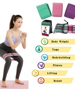 Wholesale Hip Circle Booty Squat Resistance Bands Glute Resistance Adjustable Yoga Exercise Strap Loop Belt Workout Home Gym Fitness Equipment 06