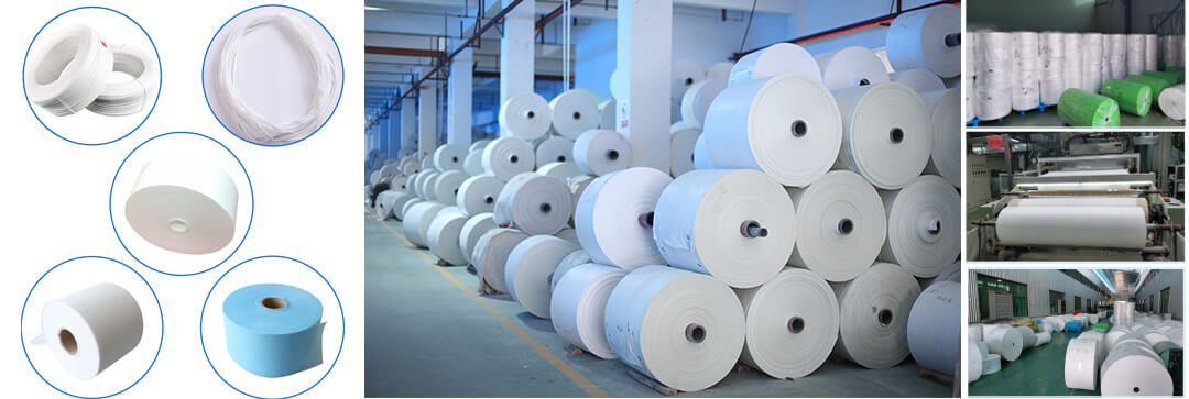 non-woven fabric raw material for face masks making factory showcase